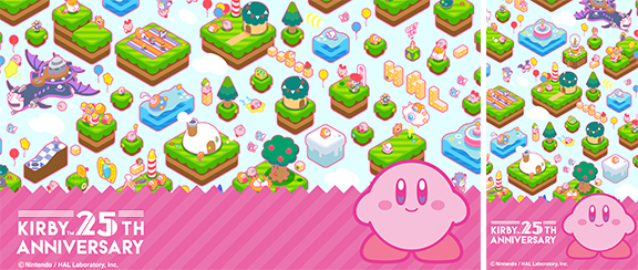 Wallpaper Kirbys 25th Anniversary Recompensas My Nintendo