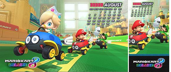 August Calendar Mario Kart 8 Deluxe Rewards My Nintendo