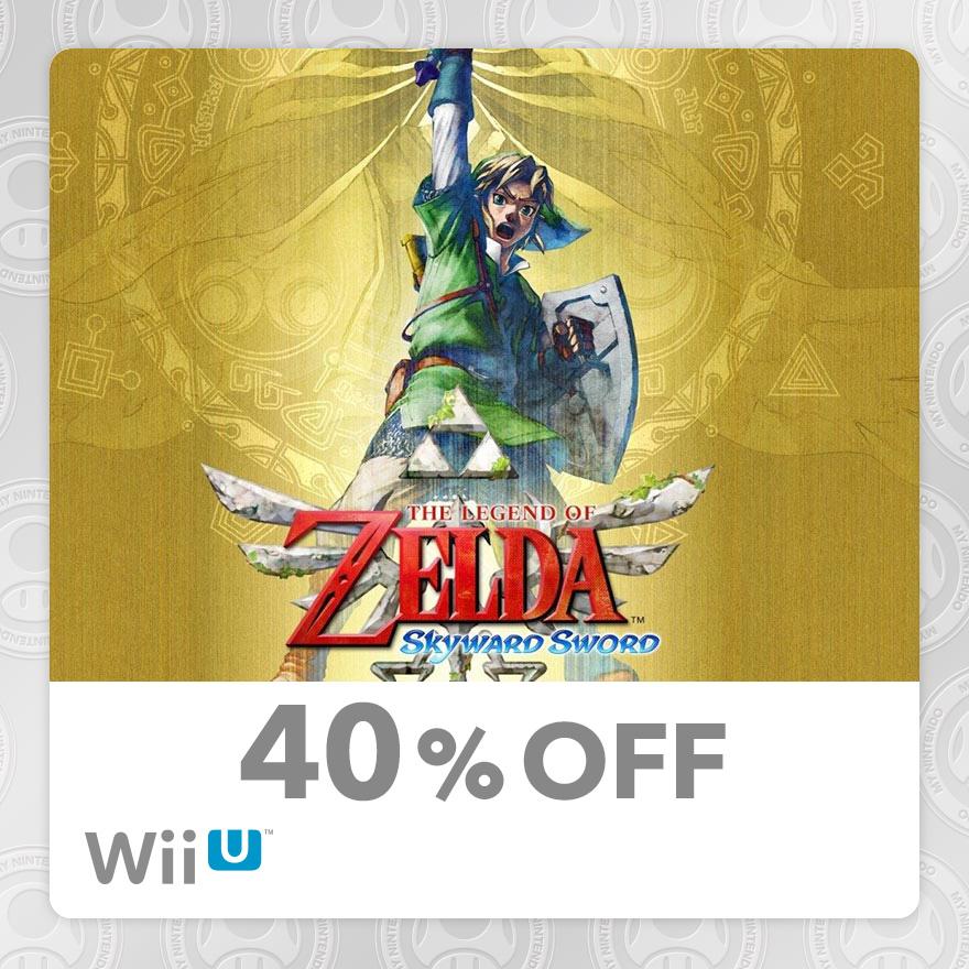 40% Discount on The Legend of Zelda™: Skyward Sword (Wii U)