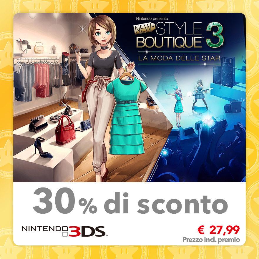 Sconto del 30% su Nintendo presenta: New Style Boutique 3 - La moda delle star