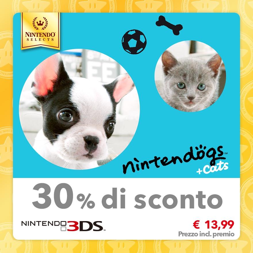 Sconto del 30% su Nintendo Selects: nintendogs + cats: Bulldog francese & Nuovi amici