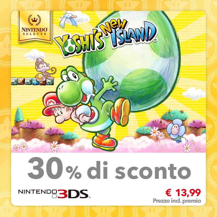 Sconto del 30% su Nintendo Selects: Yoshi's New Island
