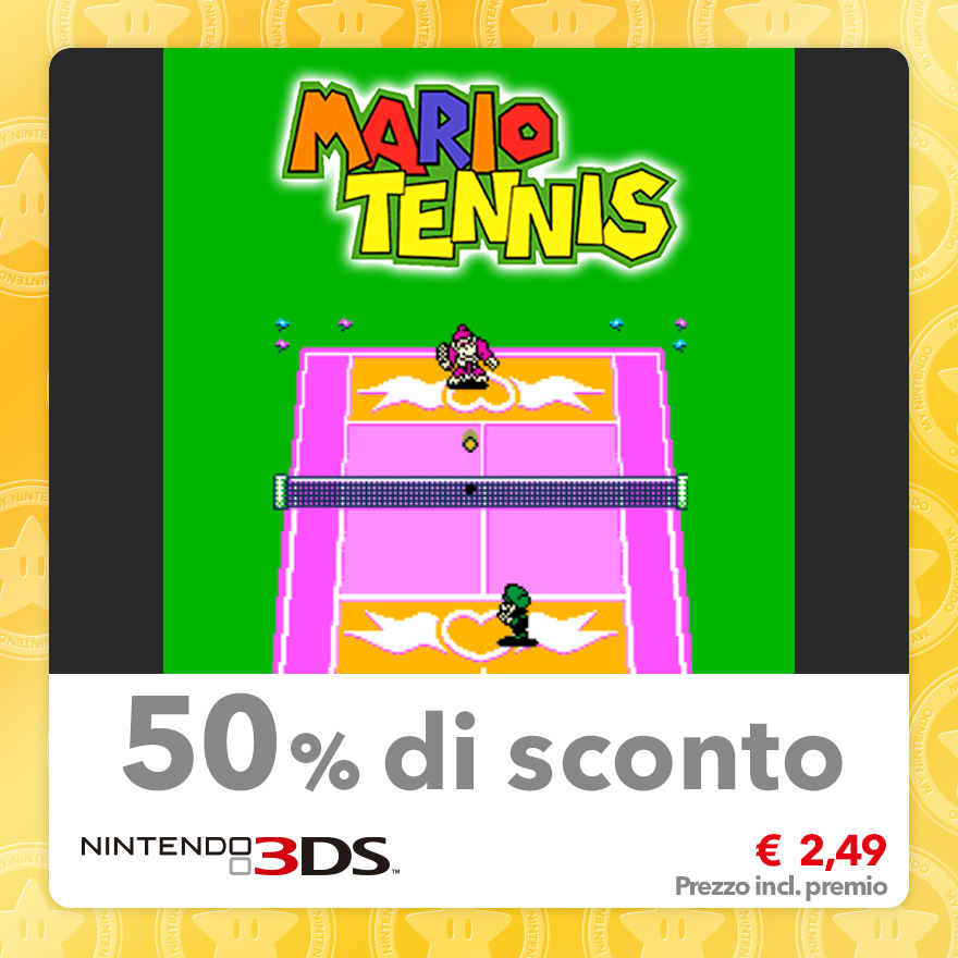 Sconto del 50% su Mario Tennis (Virtual Console GBC)