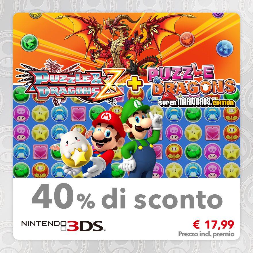 Sconto del 40% su Puzzle & Dragons Z + Puzzle & Dragons: Super Mario Bros. Edition