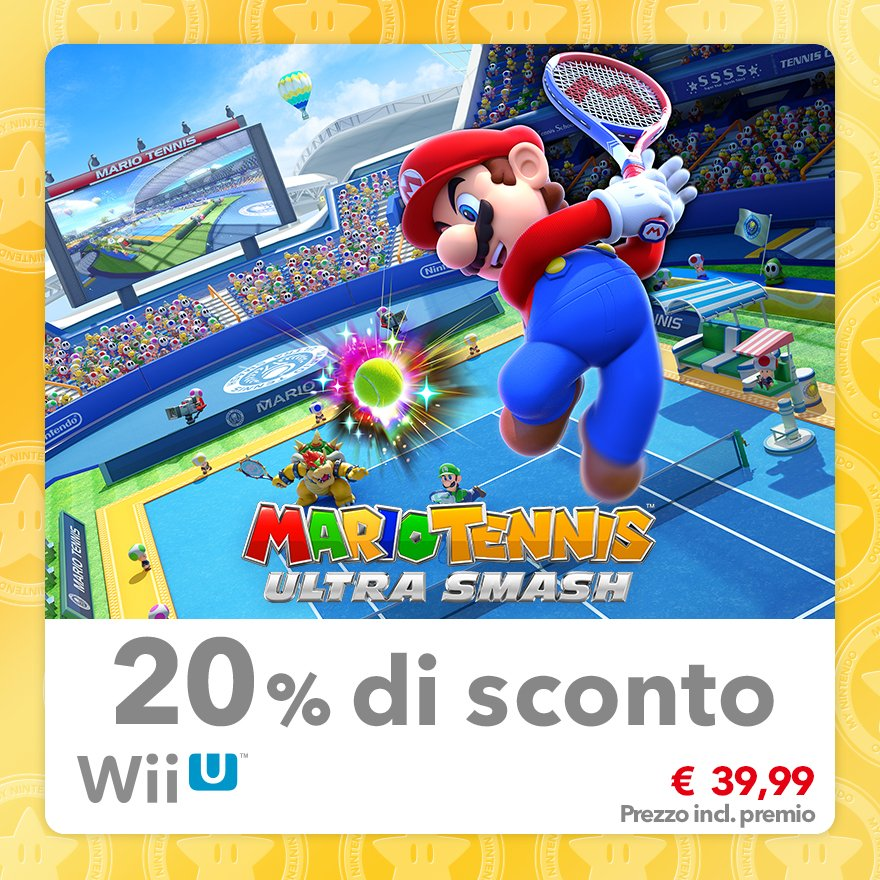 Sconto del 20% su Mario Tennis Ultra Smash