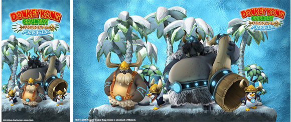 Wallpaper Donkey Kong Country Tropical Freeze Snowmads