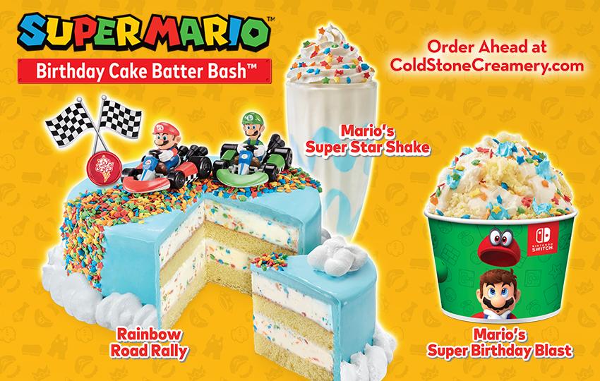 Nintendo Cold Stone Creamery Introduce New Mario Inspired Ice Cream Treats My Nintendo News My Nintendo