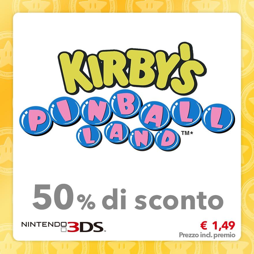 Sconto del 50% su Kirby's Pinball Land (Virtual Console)