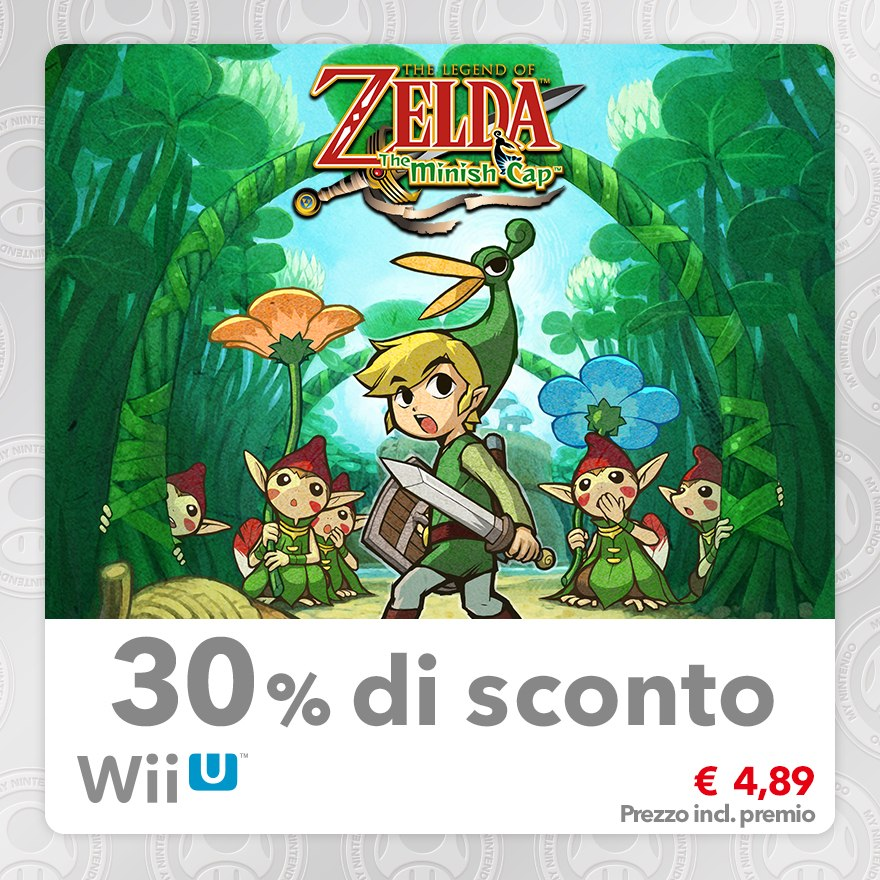 Sconto del 30% su The Legend of Zelda: The Minish Cap (Virtual Console GBA)
