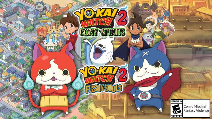For more information about the YO-KAI WATCH™ 2 Bony Spirits and YO-KAI WATCH™  2  Fleshy Souls games for Nintendo 3DS™ ac3d72043b