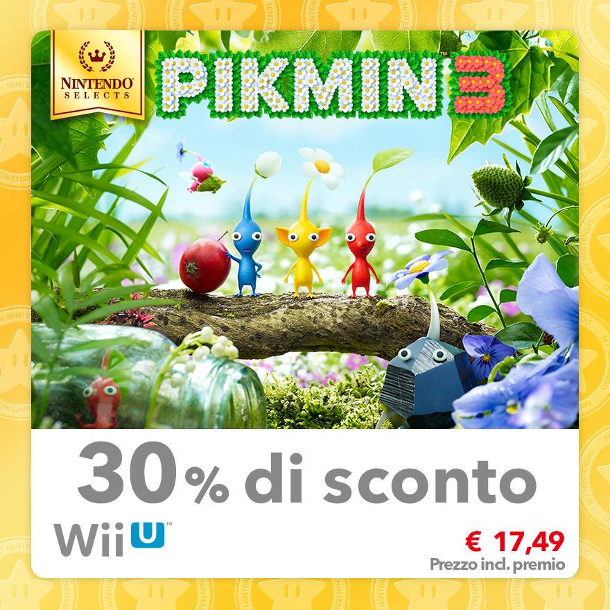 Sconto del 30% su Nintendo Selects: Pikmin 3