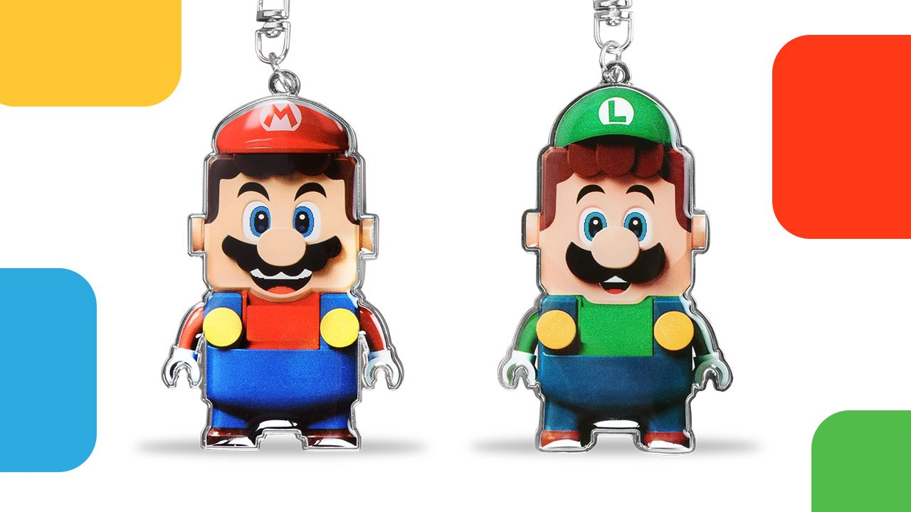 LEGO Mario and Luigi Keychain