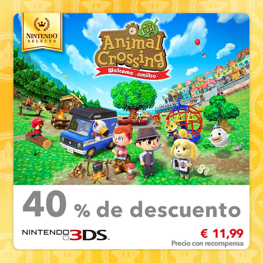 40 % de descuento en Nintendo Selects: Animal Crossing: New Leaf - Welcome amiibo