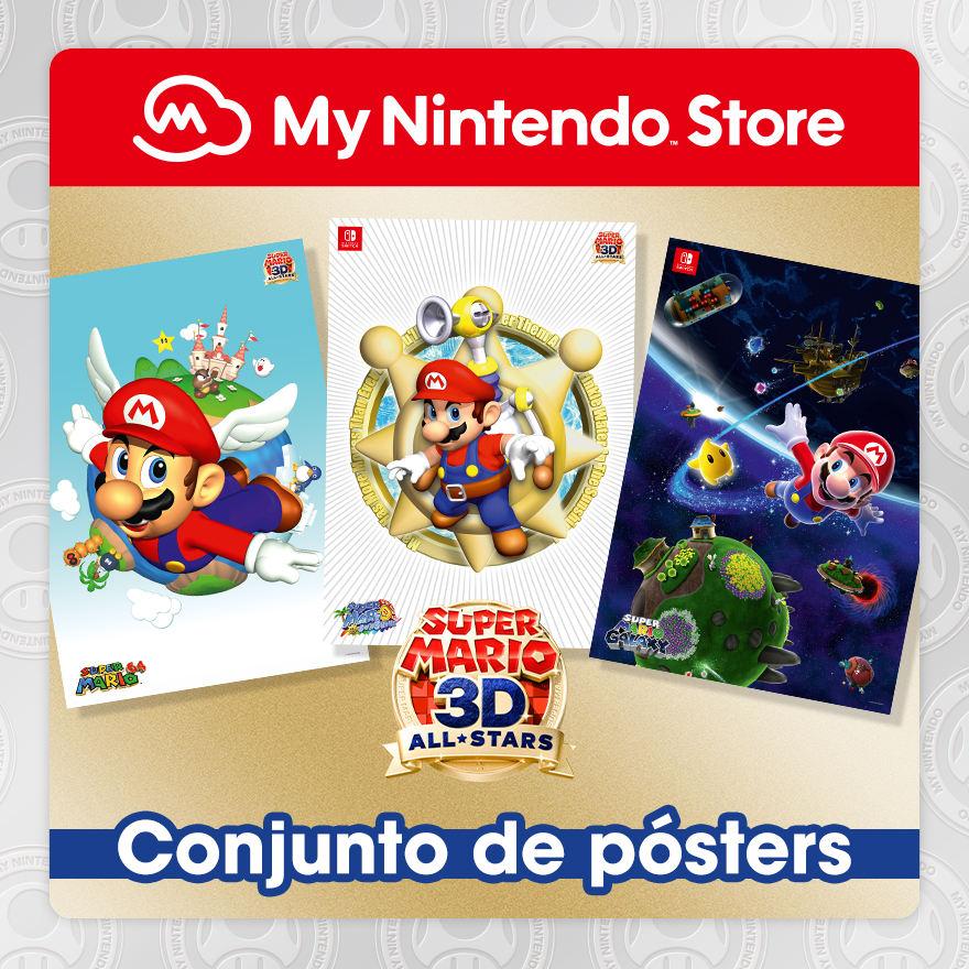 Conjunto de pósters de Super Mario 3D All-Stars