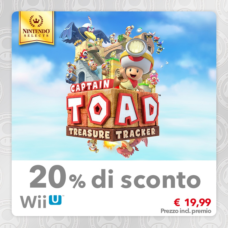 Sconto del 20% su Nintendo Selects: Captain Toad: Treasure Tracker