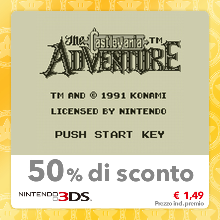 Sconto del 50% su Castlevania: The Adventure (Virtual Console GB)