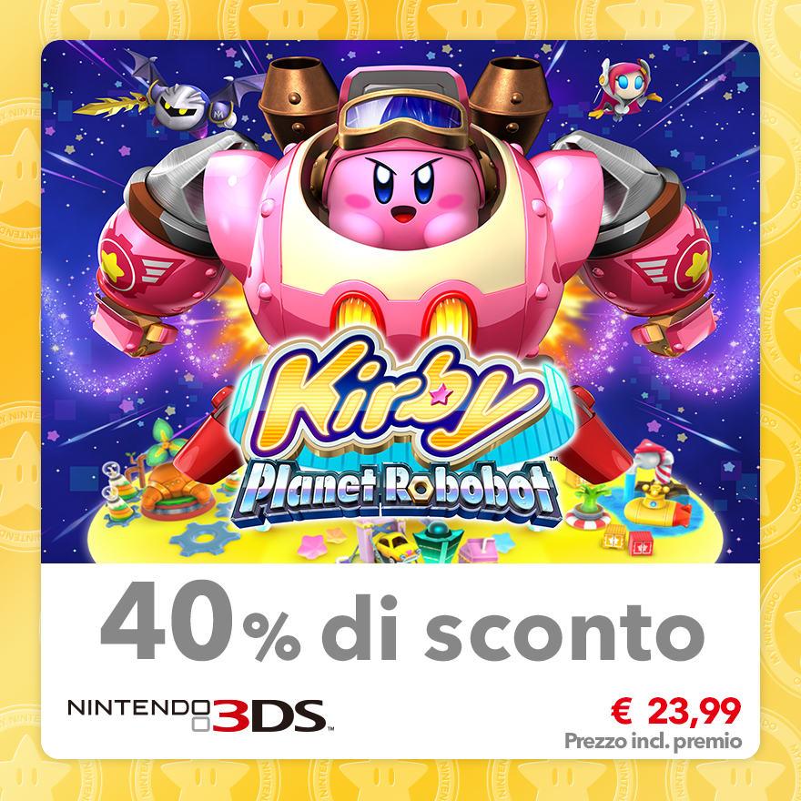 Sconto del 40% su Kirby: Planet Robobot