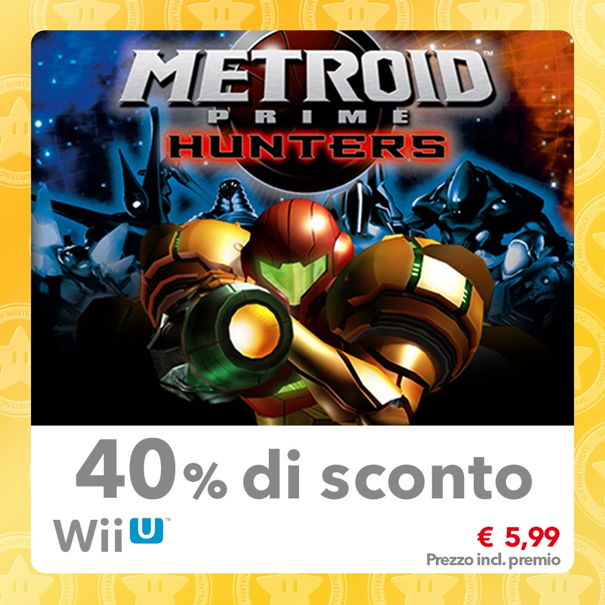 Sconto del 40% su Metroid Prime Hunters (Virtual Console NDS)