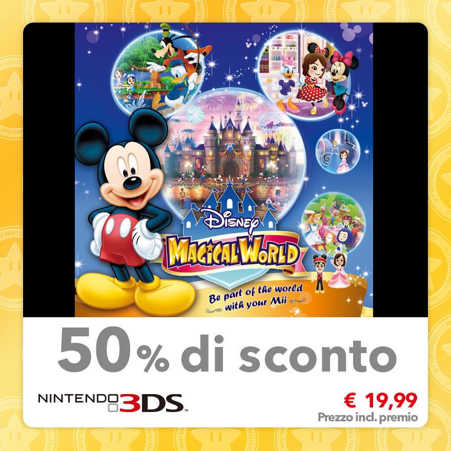 Sconto del 50% su Disney Magical World