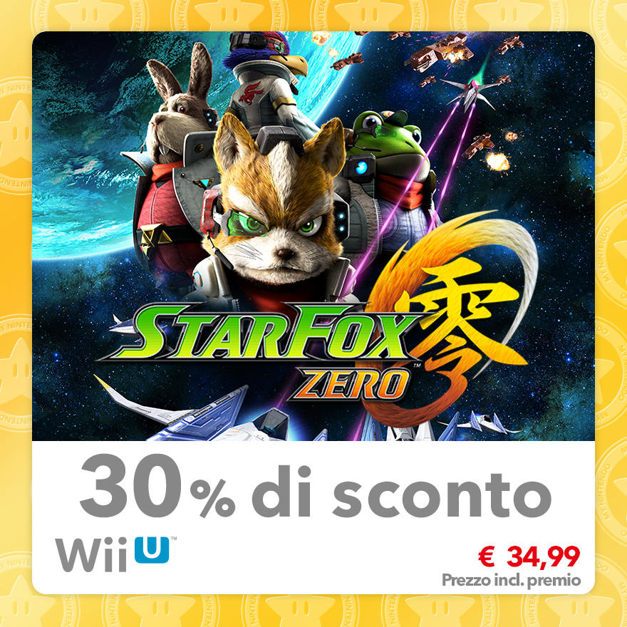 Sconto del 30% su Star Fox Zero