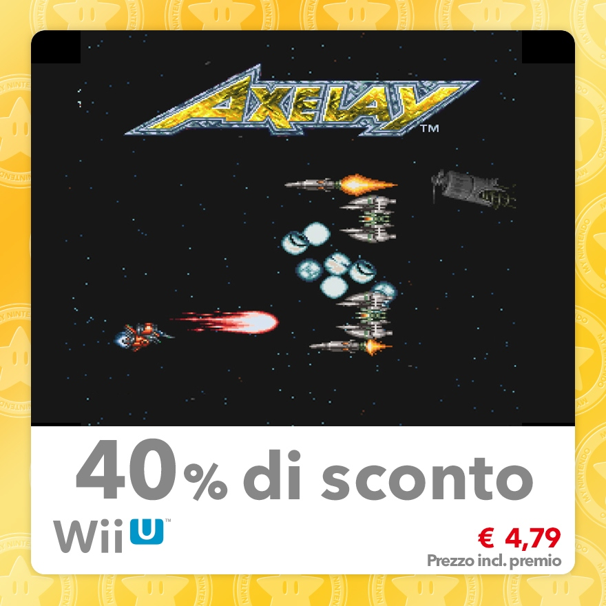 Sconto del 40% su Axelay (Virtual Console SNES)