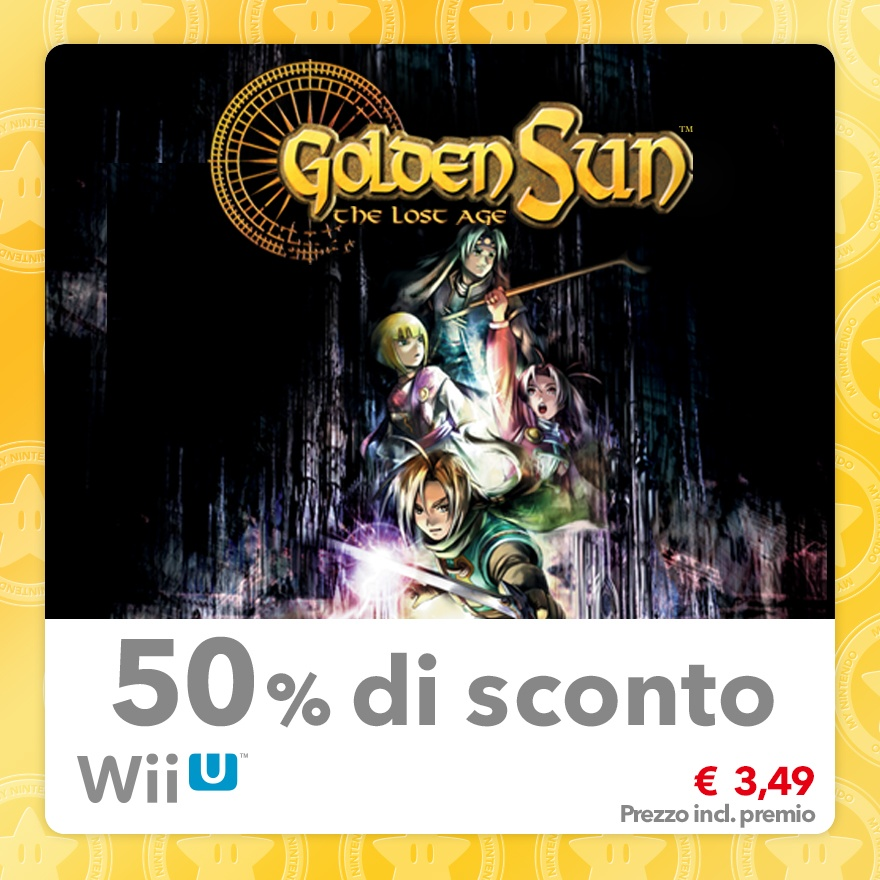 Sconto del 50% su Golden Sun: L'era Perduta (Virtual Console GBA)