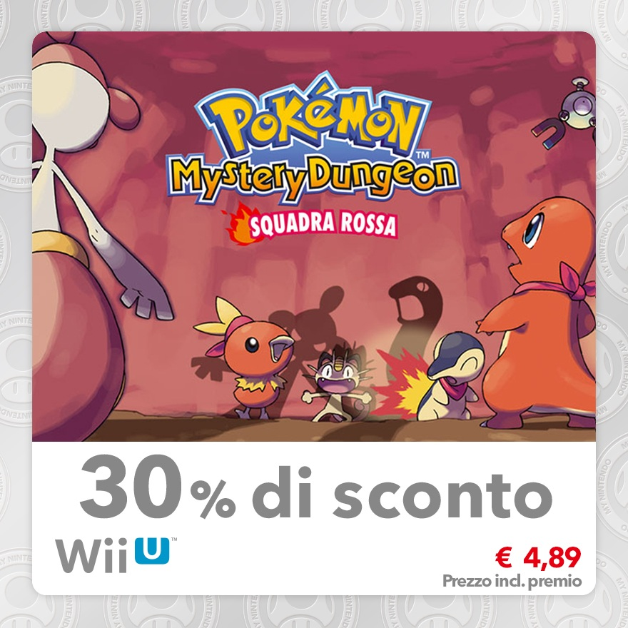 Sconto del 30% su Pokémon Mystery Dungeon: Squadra Rossa