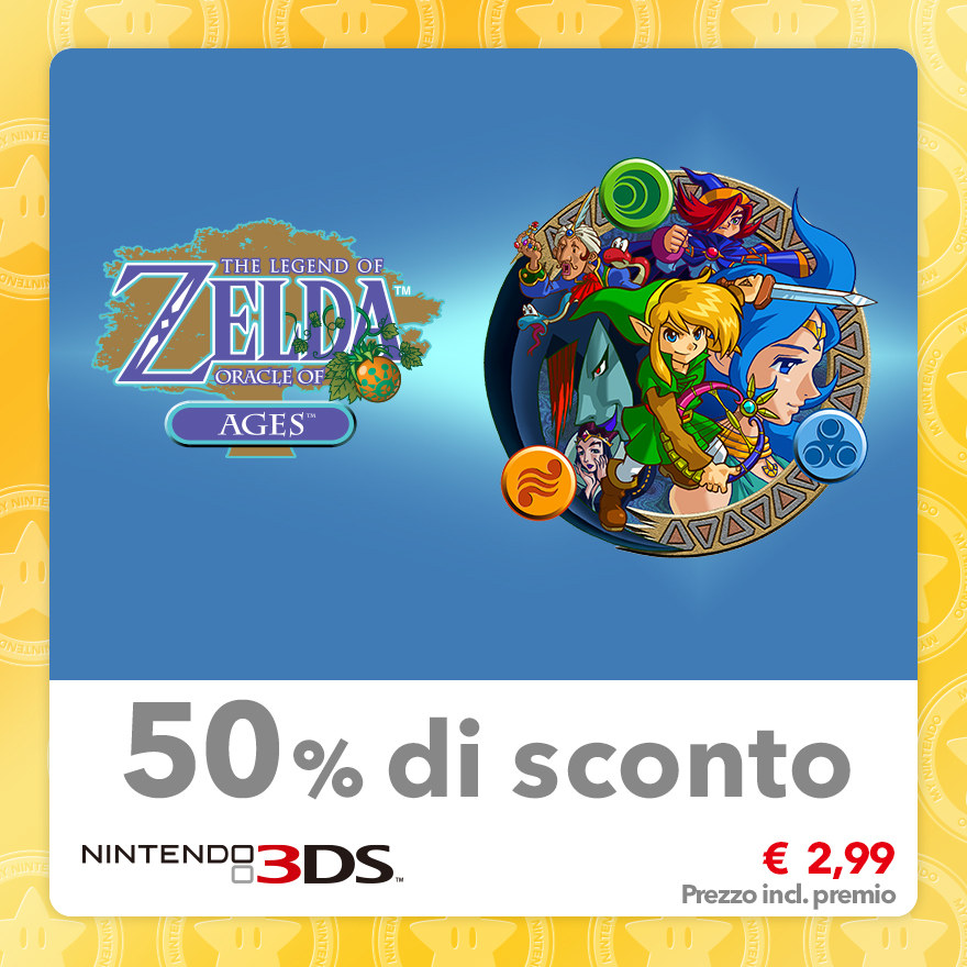 Sconto del 50% su The Legend of Zelda: Oracle of Ages (Virtual Console GBC)