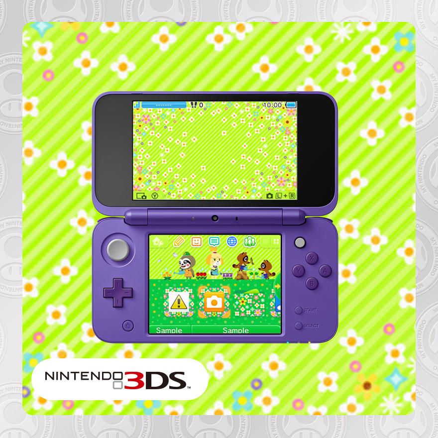 Nintendo 3DS theme: Animal Crossing™: Gardening Weather
