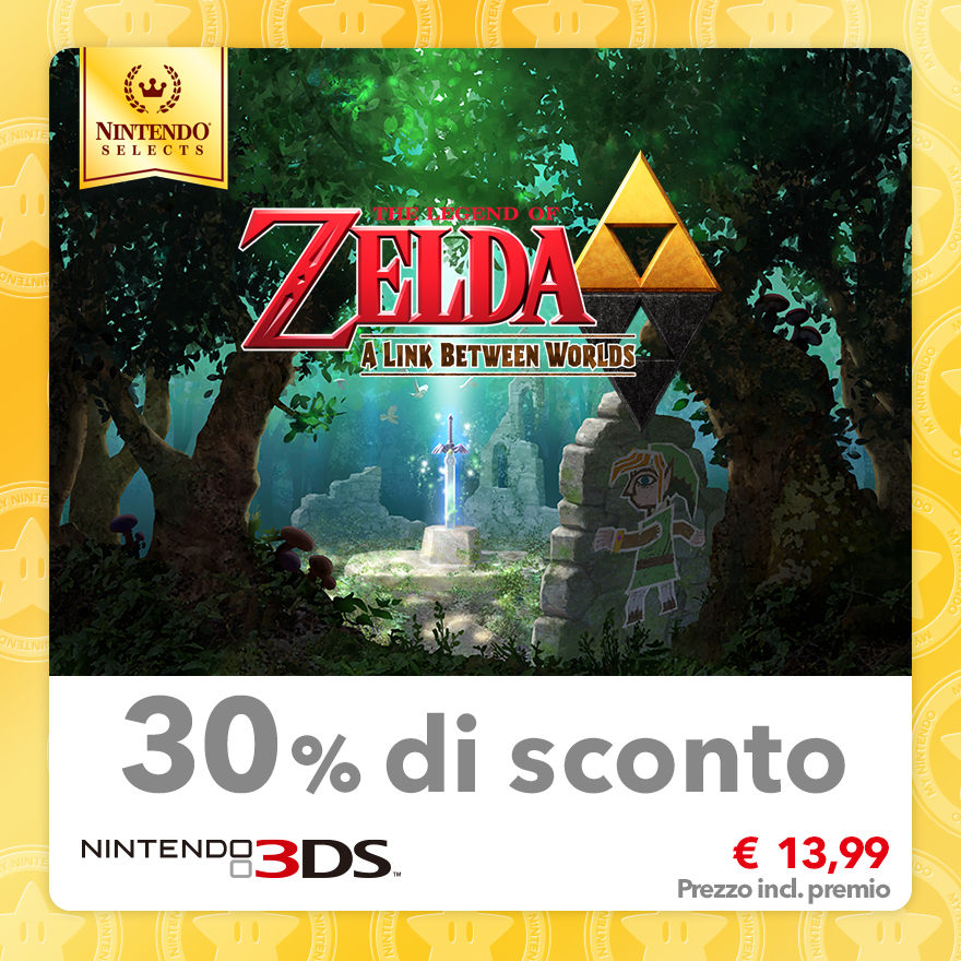 Sconto del 30% su Nintendo Selects: The Legend of Zelda: A Link Between Worlds