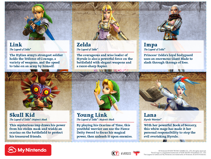 photo relating to Warriors Printable Schedule named Printable - Hyrule Warriors: Definitive Variation people A
