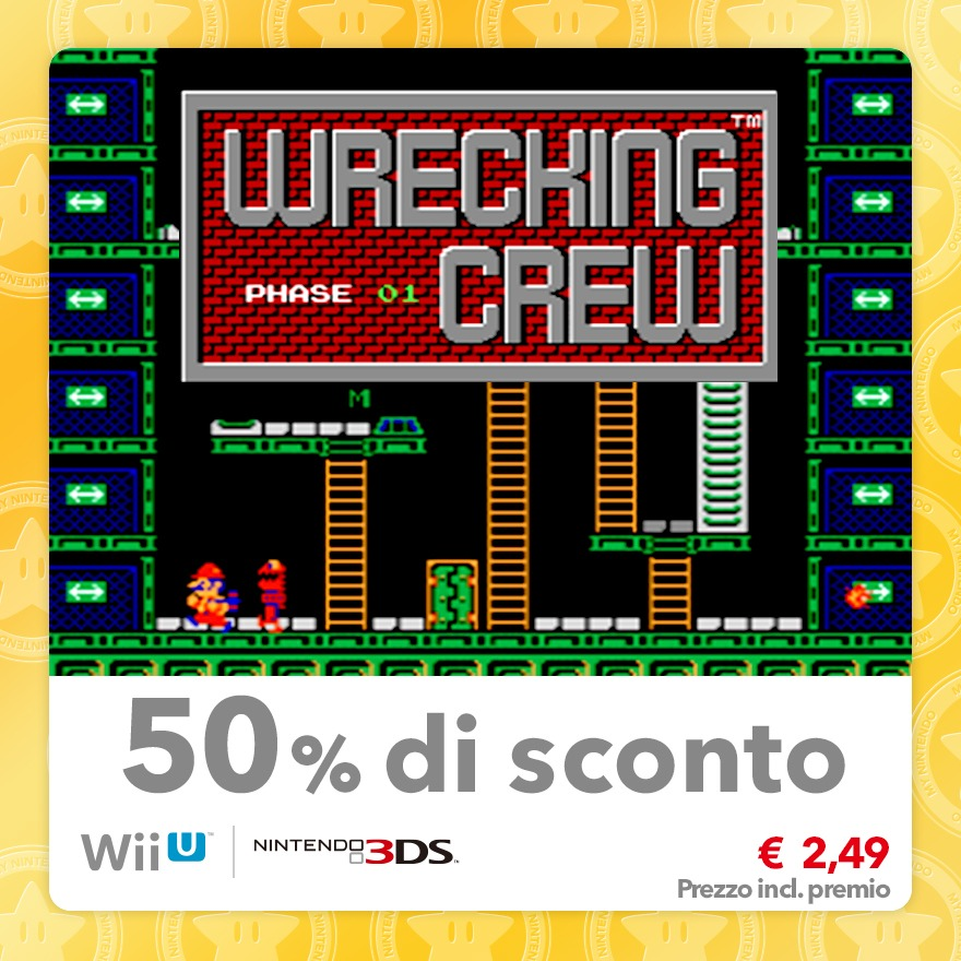 Sconto del 50% su Wrecking Crew (Virtual Console NES)