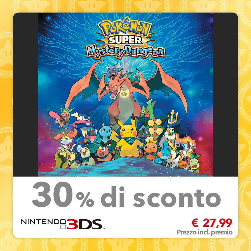 Sconto del 30% su Pokémon Super Mystery Dungeon