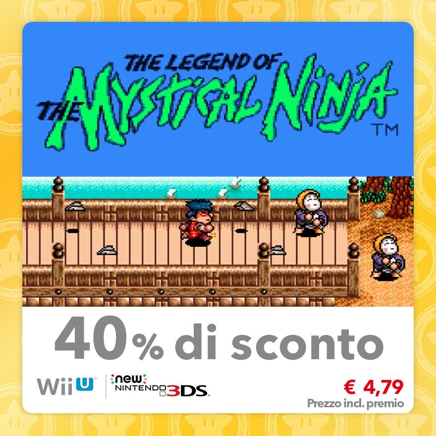 Sconto del 40% su The Legend of the Mystical Ninja (Virtual Console SNES)