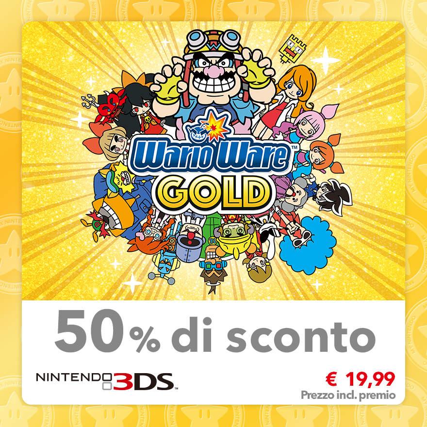 Sconto del 50% su WarioWare Gold