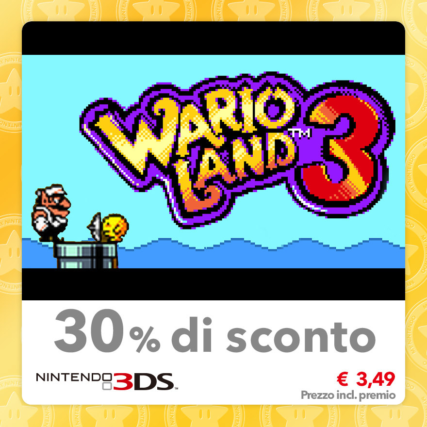 Sconto del 30% su Wario Land 3 (Virtual Console GBC)
