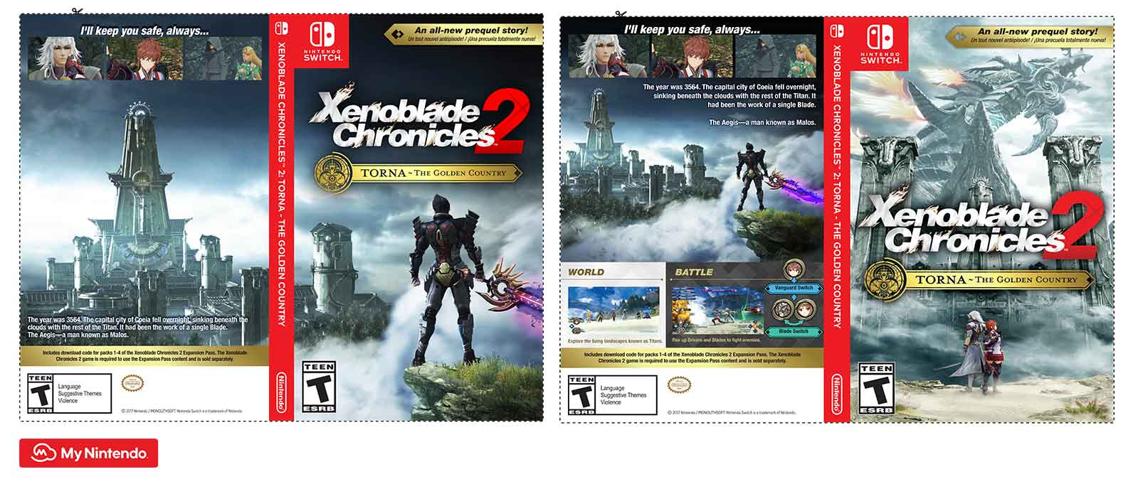 "image about Printable Video Game Covers identified as Printable - Xenoblade Chroniclesâ""¢ 2: Torna ~ The Golden"