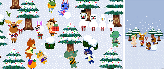 Animal Crossing Snow Day
