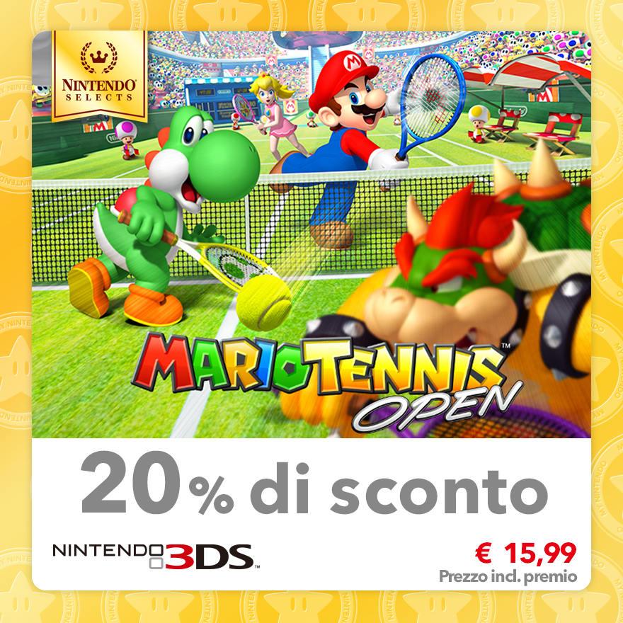 Sconto del 20% su Nintendo Selects: Mario Tennis Open