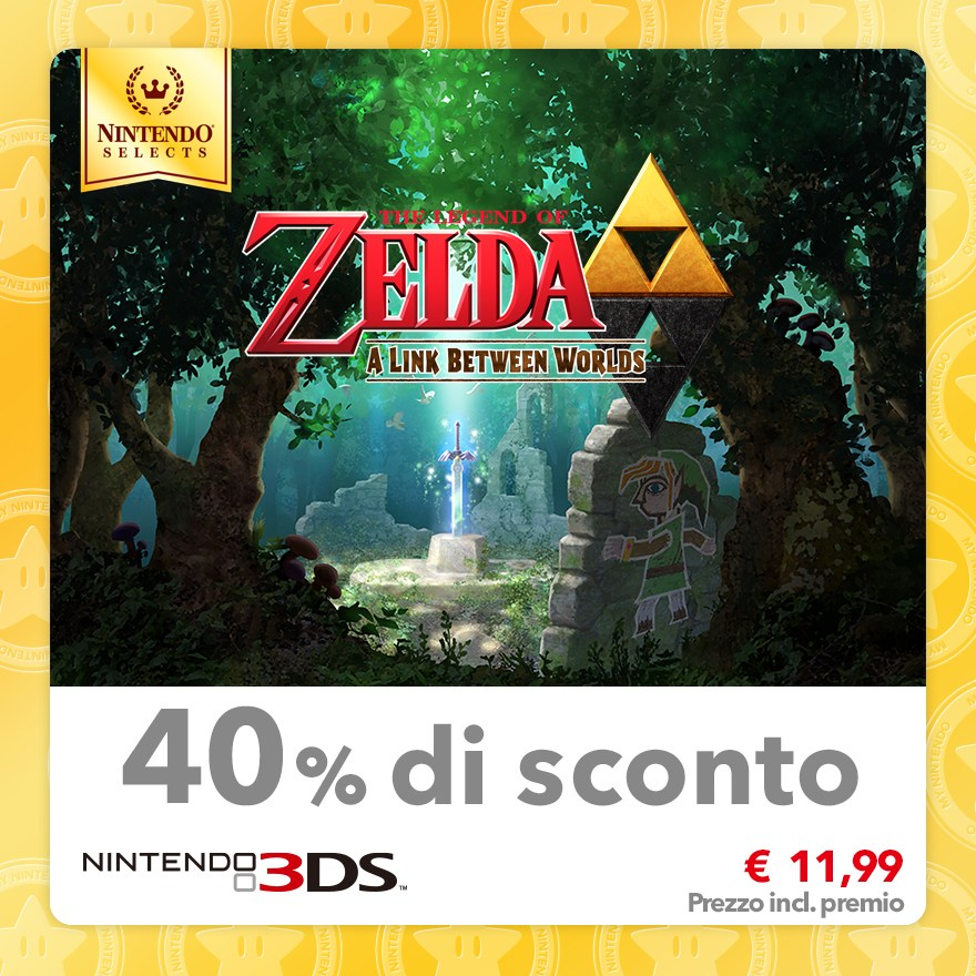 Sconto del 40% su Nintendo Selects: The Legend of Zelda: A Link Between Worlds