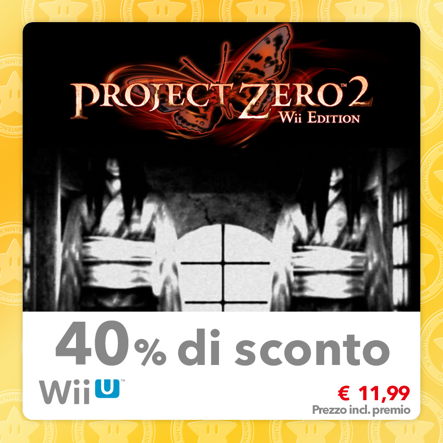 Sconto del 40% su Project Zero 2: Wii Edition