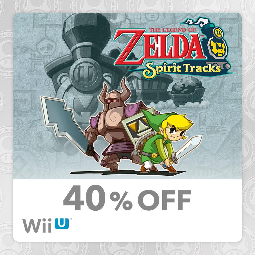 40% Discount on The Legend of Zelda™: Spirit Tracks (Wii U)