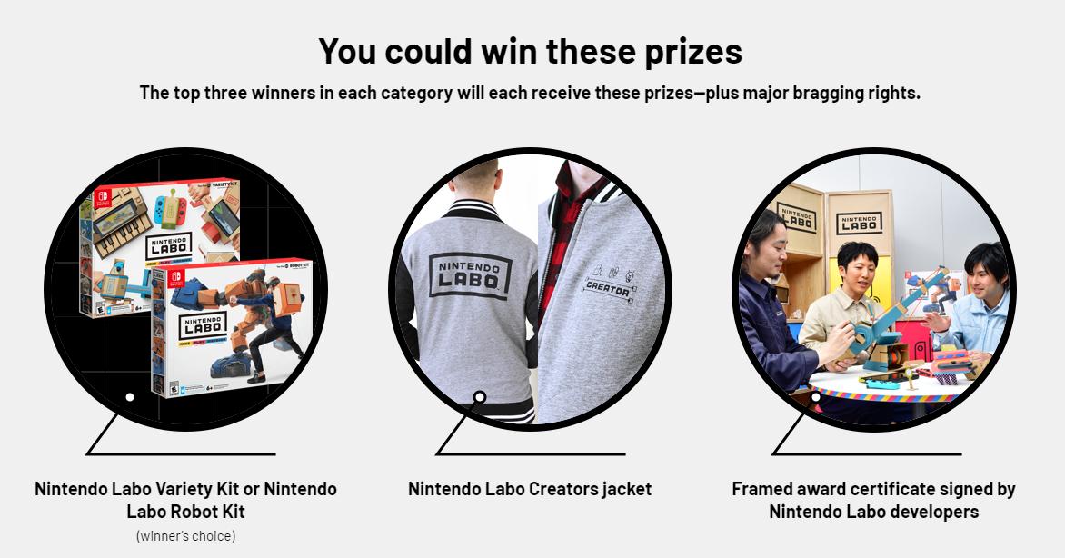 Nintendo Labo Contest Prizes