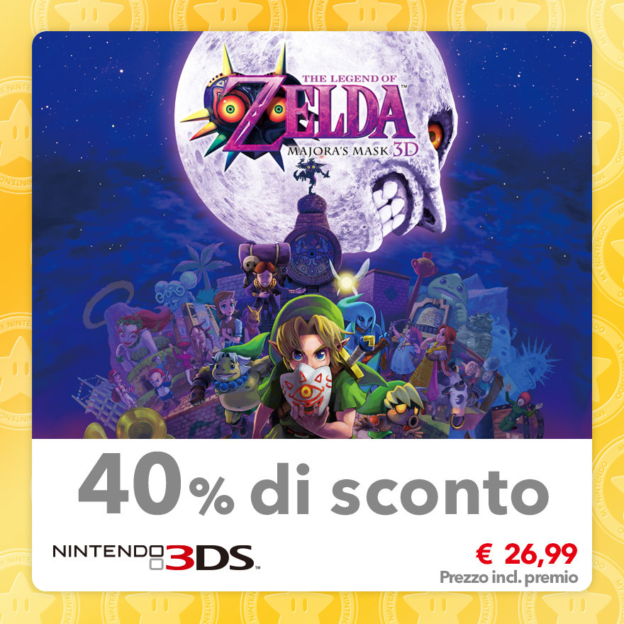 Sconto del 40% su The Legend of Zelda: Majora's Mask 3D