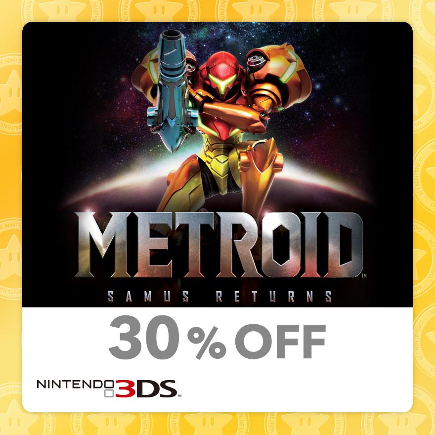 30% Discount on Metroid: Samus Returns (Nintendo 3DS)