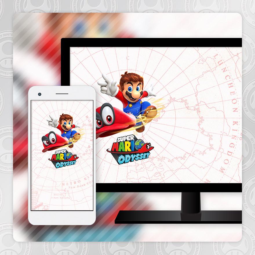 Sfondo - Super Mario Odyssey (Mappa)