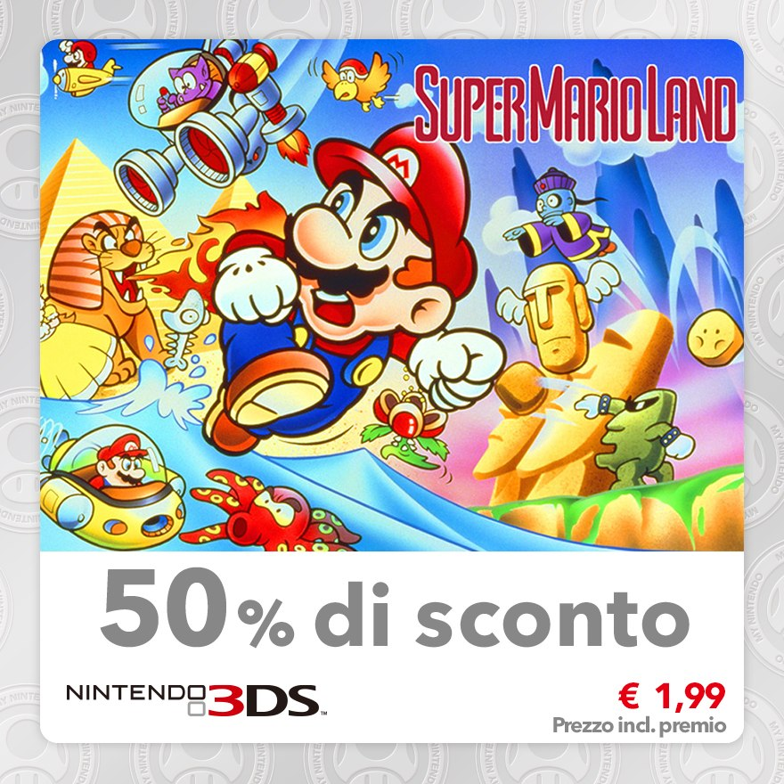 Sconto del 50% su Super Mario Land (Virtual Console GB)