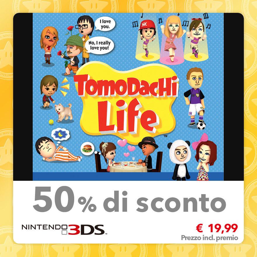 Sconto del 50% su Tomodachi Life