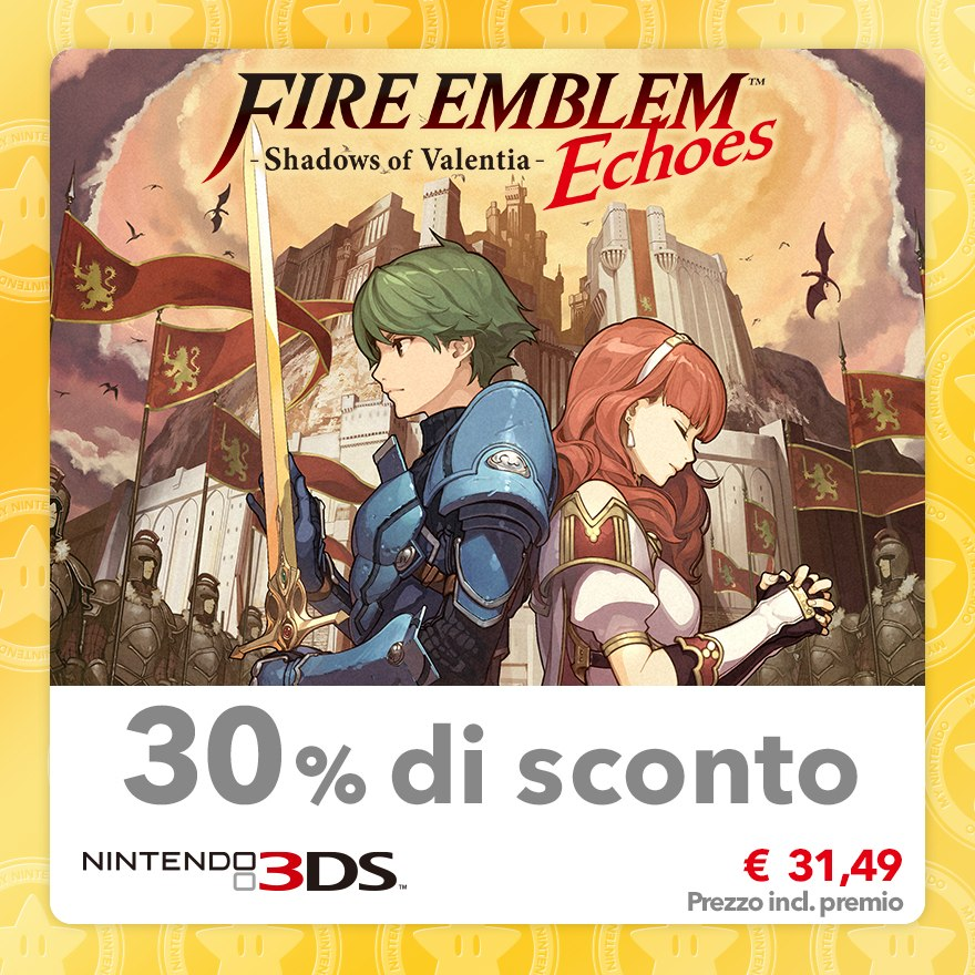 Sconto del 30% su Fire Emblem Echoes: Shadows of Valentia