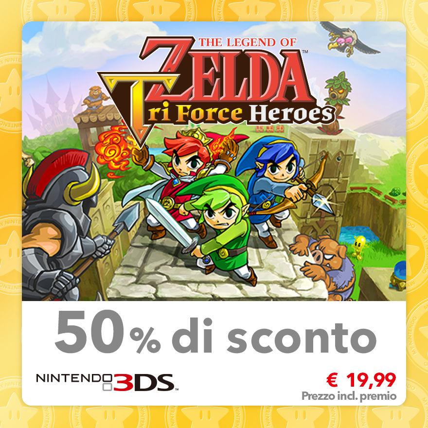 Sconto del 50% su The Legend of Zelda: Tri Force Heroes